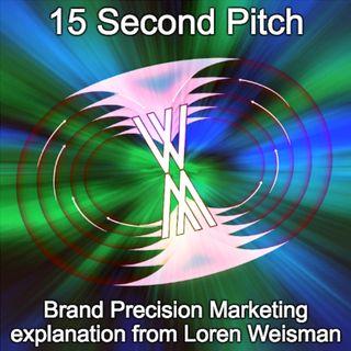 15 Second Pitch  - Loren Weisman explaining Brand Precision Marketing.