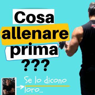 Cosa allenare prima? - muscoli grandi o piccoli?