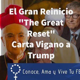 Episodio 380: 🤔 El Gran Reinicio 😨 Carta del Arzobispo Vigano a Trump 📩 The Great Reset 🤫 Nuevo Orden Mundial 🗣