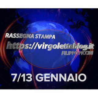 RASSEGNA STAMPA 7/13 gennaio | virgoletteblog.it
