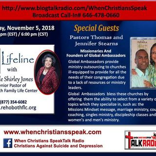 Lifeline with Apostle Shirley Jones, Guest Pastor Thomas and Jennifer Stearns!
