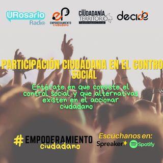Participación ciudadana en el control social