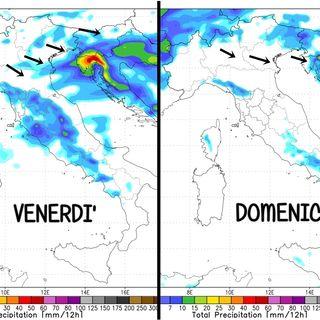 Previsioni meteo 12-14/3. Due rapidi peggioramenti in un contesto di tempo variabile