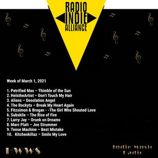 HWWS Indie Music Radio Top Ten 03-01-2021