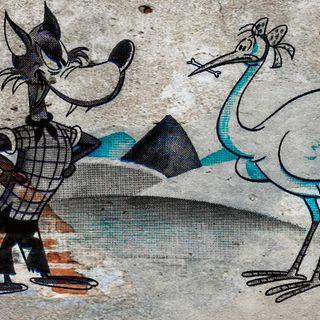 El lobo y la cigüeña