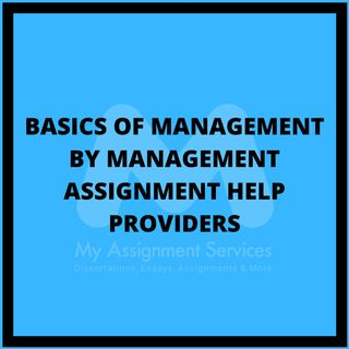 Basics Of Management By Management Assignment Help Providers