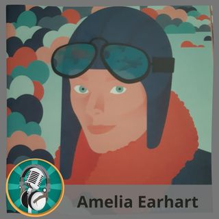 Carmen Jaime con Amelia Earhart