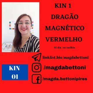 KIN 01  DRAGÃO MAGNÉTICO VERMELHO - 1ª Onda Encantada do Tzolkin –  ONDA ENCANTADA DO DRAGÃO VERMELHO