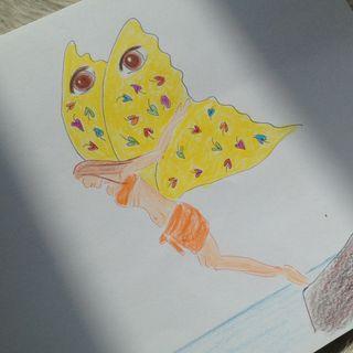 2. En fjärils vingar