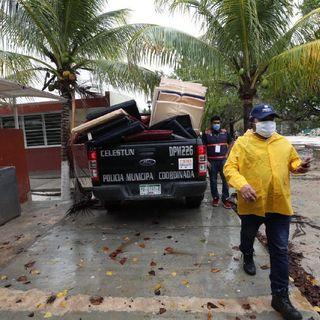 Cristobal deja daños en Quintana Roo