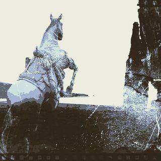 Horse bellyriding on university