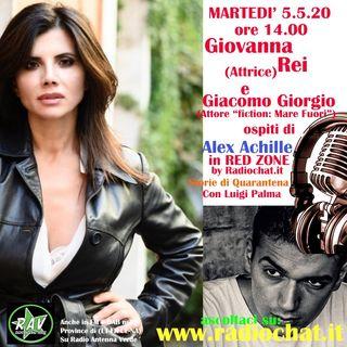 Giovanna Rei e Giacomo Giorgio ospiti di Alex Achille in RED ZONE by Radiochat.it
