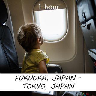 Fukuoka - Tokyo | 1 hour AIRPLANE Sound Podcast | White Noise | ASMR sounds for deep Sleep | Relax | Meditation | Colicky