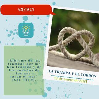 14 de enero - La trampa y el cordón - Etiquetas Para Reflexionar - Devocional de Jóvenes