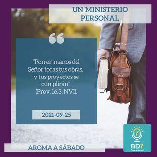 25 de septiembre - Un ministerio personal - Devocional de Jóvenes - Etiquetas Para Reflexionar