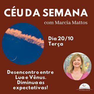 Céu da Semana - Terça-feira, dia 20/10: Desencontro entre Lua e Vênus.
