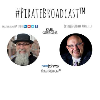 Catch Karl Gibbons on the #PirateBroadcast™