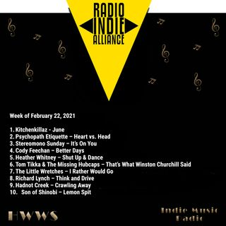 HWWS Indie Music Radio Top Ten Spotlight 02-22-2021
