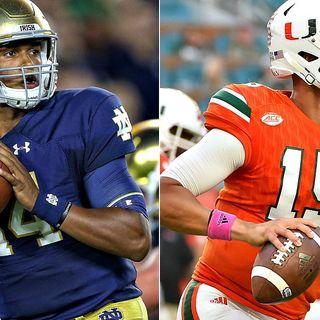 Irish Football Weekly:Notre Dame vs Miami Preview Show W/Irish Legend Tony Hunter