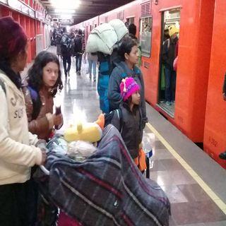 Migrantes salen de CDMX hacia Querétaro