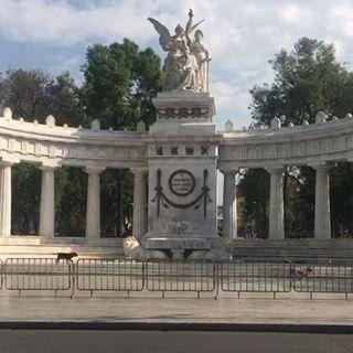 Instalan vallas en Alameda Central y Bellas Artes