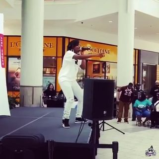 Performing at Arden Mall Sacramento, Ca.