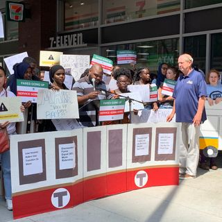 MBTA Officials Discuss Future While Protesters Rally Outside