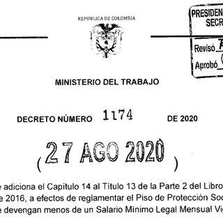 Decreto 1174 ¿formalización o precarización del trabajo?