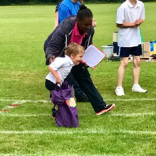 Running in the School Sports