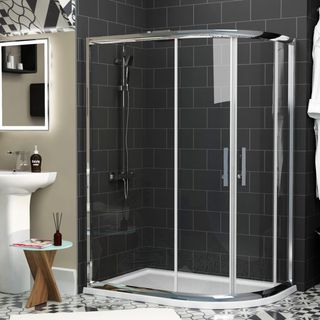 Offset Shower Enclosure