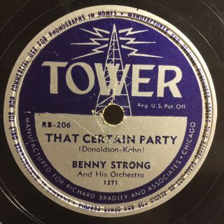 Benny Strong - that certain party my best girl show