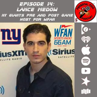 14. Lance Medow, NY Giants Pre/Post Game Host on WFAN