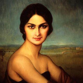 El retrato de una dama