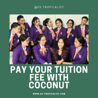 Pay tuition fee w/coconut - Ep 3 (Staff) ID
