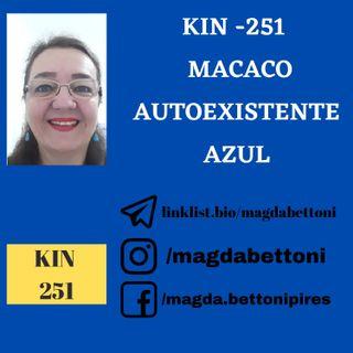 KIN 251  MACACO AUTOEXISTENTE AZUL - 20ª Onda Encantada do Tzolkin