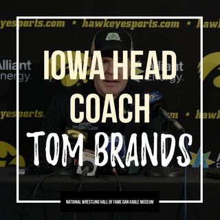 Iowa head coach Tom Brands - OTM556