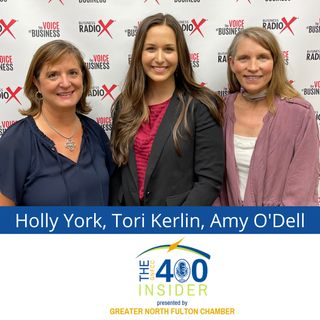 2021 GNFCC Nonprofit Award Winners: Holly York, North Fulton Community Charities and Amy O'Dell, Jacob's Ladder
