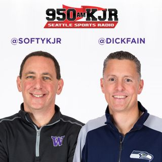 Softy and Dick H1 - Joe Fann on the Hawks / Chris Petersen on special teams, early kickoffs / Softy and the Truffle Shuffle / Jacob Martin