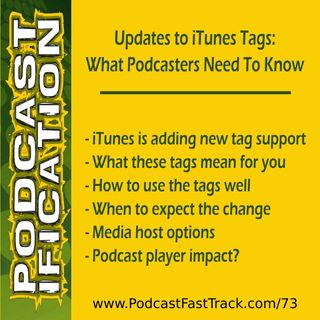 73: Updates to iTunes Tags: What Podcasters Need To Know