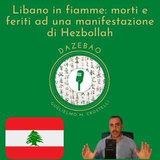 Libano in fiamme: morti e feriti ad una manifestazione di Hezbollah