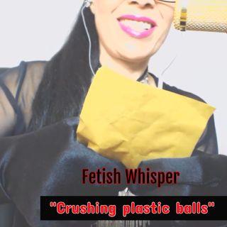 asmr crushing plastic balls