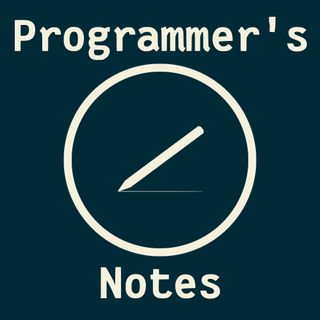 Programmer's Notes