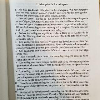 Capítulo 1: El significado de los Milagros. Parte I Principios de los milagros