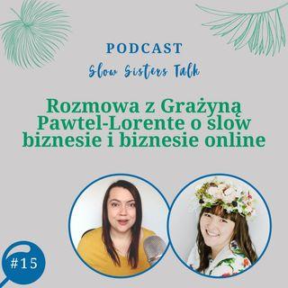 #15 Rozmowa z Grażyną Pawtel-Lorente o slow biznesie i biznesie online