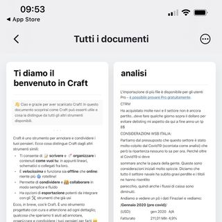 Craft editor di documenti per iOS