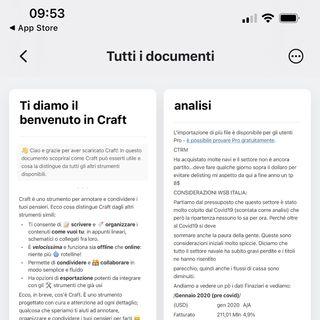 Craft editor di documenti per iOS