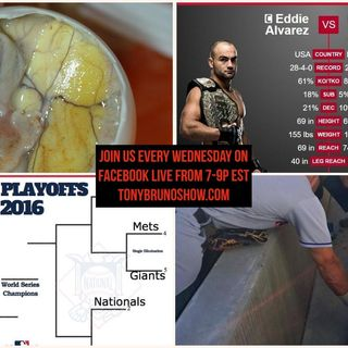 #BrunoNation LIVE 10/12 - Full 2hrs -  MMA Champ Eddie Alvarez EPIC Interview plus ALCS, Balut &Tim Tebow
