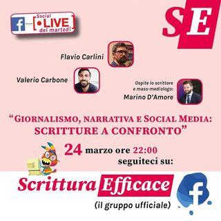 Giornalismo, narrativa e social media: scritture a confronto con Marino D'Amore
