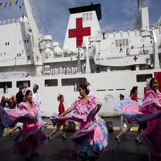 Llega hospital buque chino a Venezuela