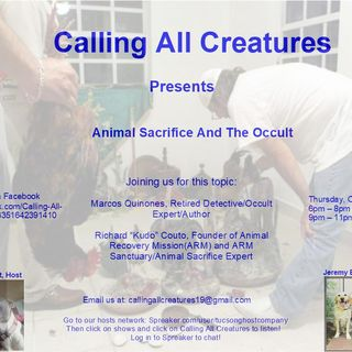 Animal Sacrifice and The Occult